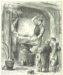 In medieval Europe, craftsmen — such as blacksmiths — often accepted apprentices. Apprentices would serve as assistants to the master craftsman and develop skills under careful and thoughtful direction.