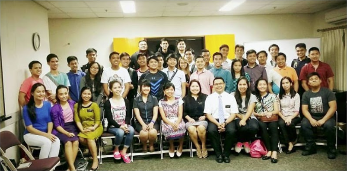 A group of Pathway students together at the new Quezon City location