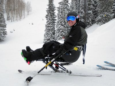 Tyler skiing in Targhee (Idaho).