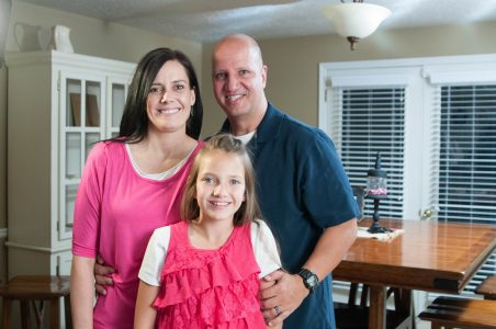 Mike and his family at their home in Ogden, Utah.