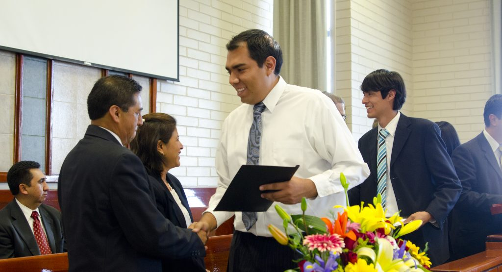 A Pathway student in Puebla, Mexico graduates from the program.