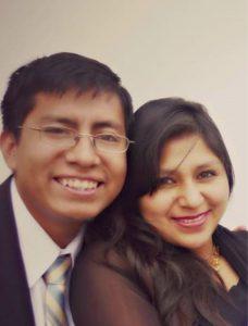 Eduardo and his wife in Ayacucho, Peru.