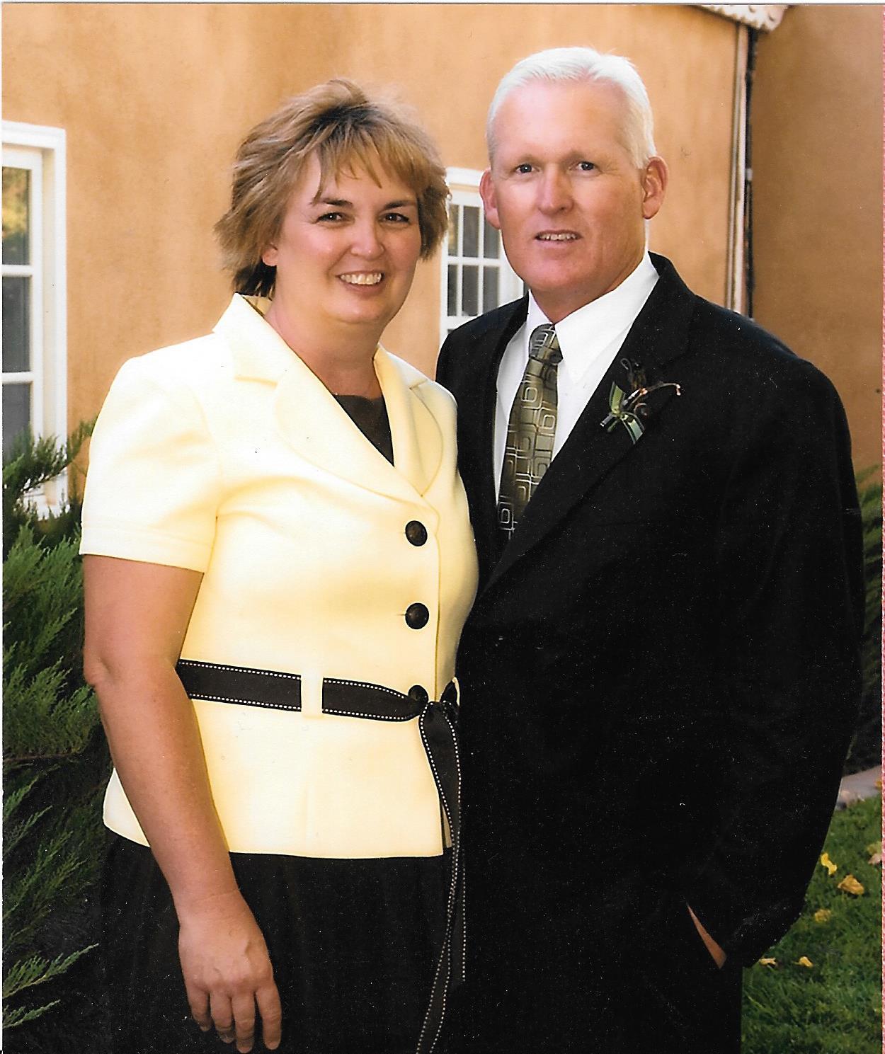 Julie with her husband, Jeffrey.
