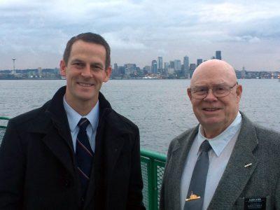 Joseph with Elder Olsen