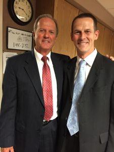 Joseph with Elder Gibbons in Yakima, Washington.