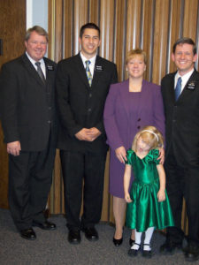 Annette Carson - Baptism with missionaries